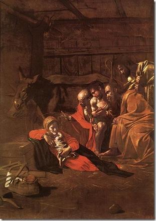 Caravaggio.Adoración de los pastores.1609