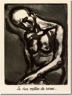 Rouault.La dura tarea de vivir.Plancha 12 de Miserere. 1917-1927